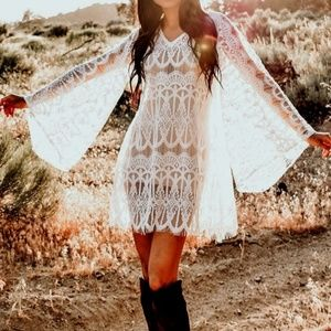 October Love White Lace Cover Up